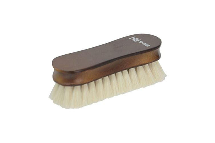 HySHINE Deluxe Wooden Face Brush (White Goats Hair) (One Size)