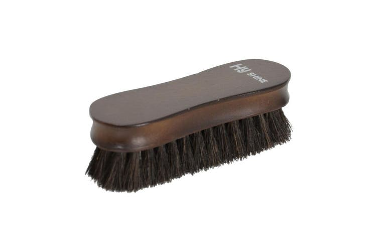 HySHINE Deluxe Wooden Face Brush (Black Horse hair) (One Size)