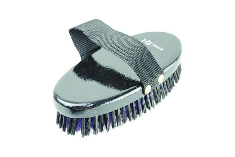 HySHINE Wooden Body Brush (Black/Purple) (One Size)