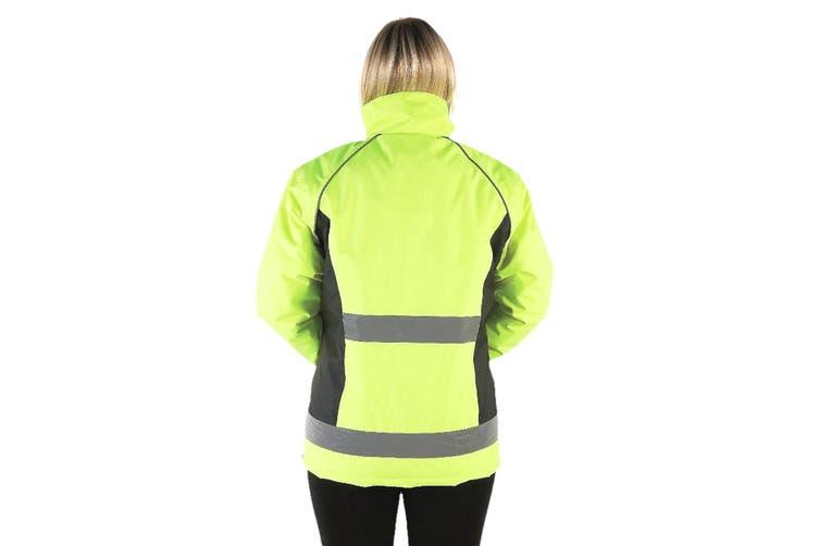HyVIZ Adults Waterproof Riding Jacket (Yellow/Black) (XS)