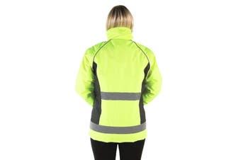 HyVIZ Adults Waterproof Riding Jacket (Yellow/Black) (S)