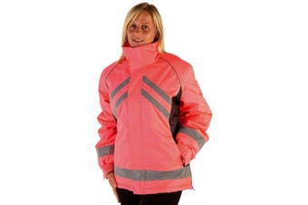 HyVIZ Adults Waterproof Riding Jacket (Pink/Black) (L)