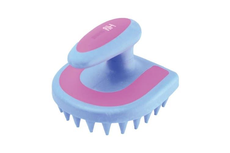 HySHINE Horseshoe Massage Brush (Blue/Pink) (One Size)