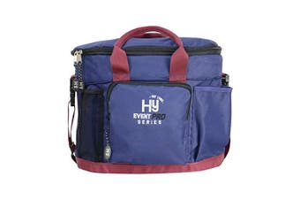 Hy Event Pro Series Grooming Bag (Navy/Burgundy) (33cm x 28cm)