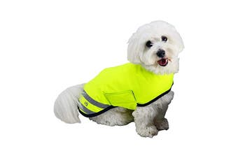 HyVIZ Reflector Waterproof Dog Coat (Yellow) (XL)