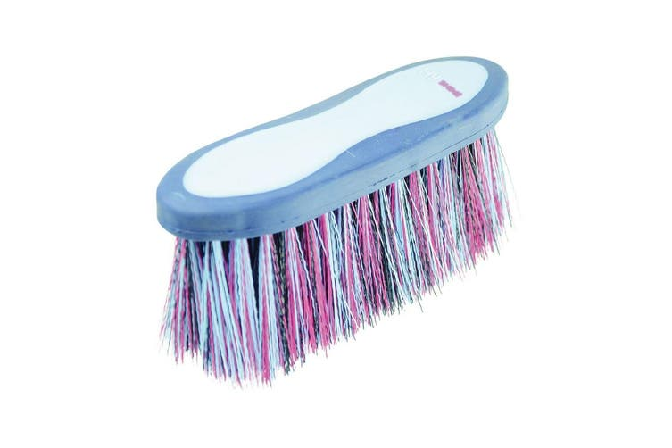 HySHINE Pro Groom Long Bristle Dandy Brush (Navy/Light Blue) (One Size)