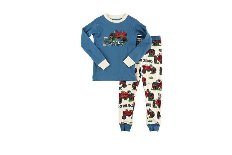 LazyOne Childrens/Kids Field Of Dreams Pyjamas (Blue/White/Red) (3 Years)