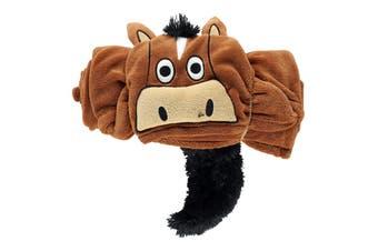 LazyOne Childrens/Kids Hooded Horse Fleece Blanket (Brown) (40 x 50in)