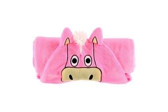 LazyOne Childrens/Kids Hooded Horse Fleece Blanket (Pink) (40 x 50in)