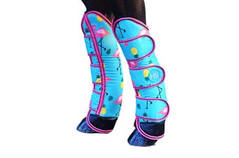 Hy Flamingo Horse Travel Boots (Teal) - UTBZ3042