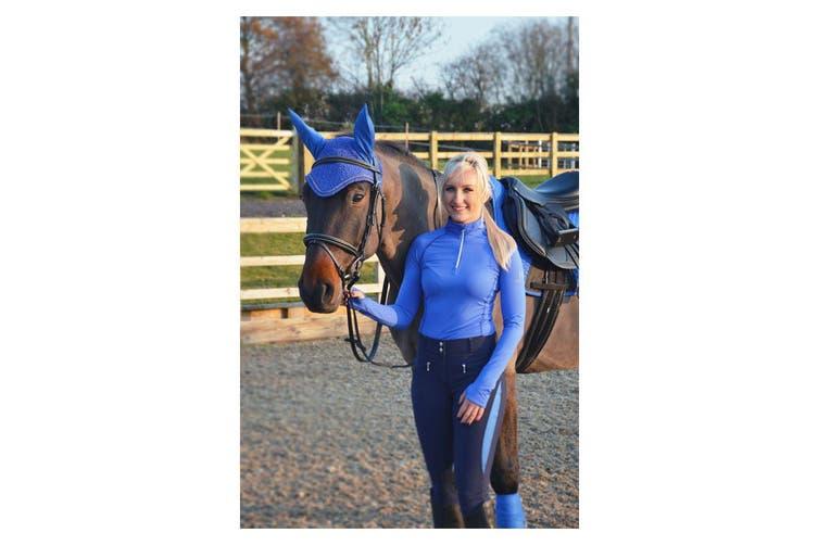 Hy Sport Horse Active Fly Veil (Regal Blue) (Cob/Full)