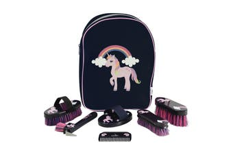 Little Rider Little Unicorn Complete Grooming Kit Rucksack (Navy/Pink) (One Size)