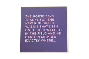 Gubblecote Thanks For The New Rug Foiled Greetings Card (Purple) (One Size)