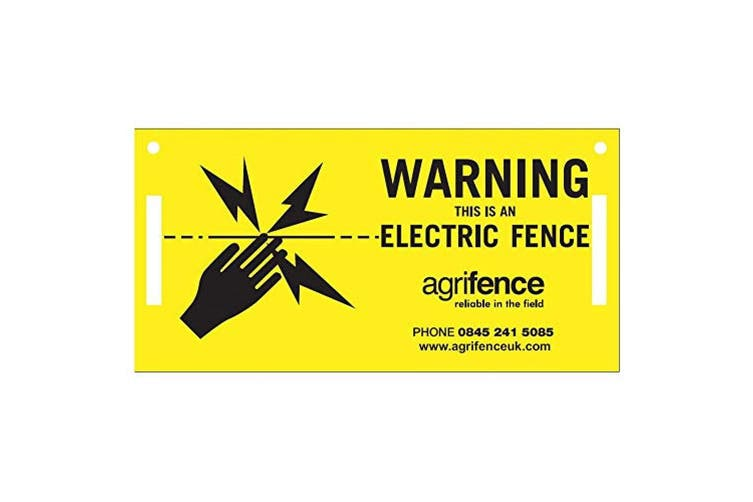 Agrifence Warning Signs (H4873) (Pack Of 5) (Yellow/Black) (One Size)