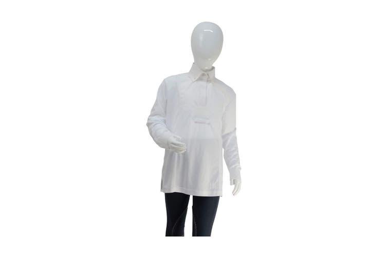 HyFASHION Womens/Ladies Dedham Long Sleeved Tie Shirt (White) (M)