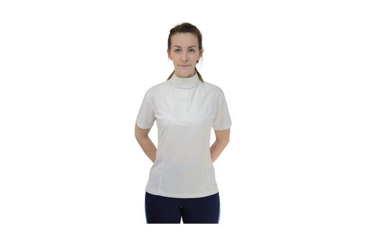 HyFASHION Womens/Ladies Downham Short Sleeved Stock Shirt (White) (XS)