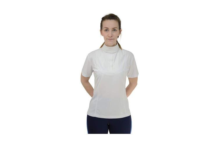 HyFASHION Womens/Ladies Downham Short Sleeved Stock Shirt (White) (XL)