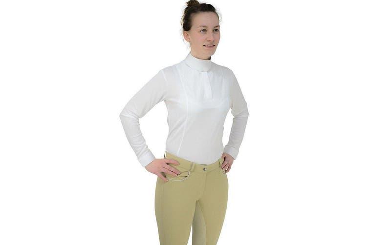 HyFASHION Womens/Ladies Sandringham Long Sleeved Stock Shirt (White) (XL)