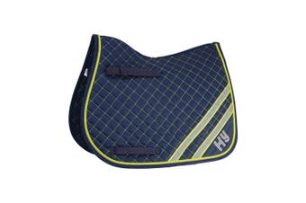 HyWITHER Reflector Saddle Pad (Fluorescent Yellow/Silver) (Cob/Full)