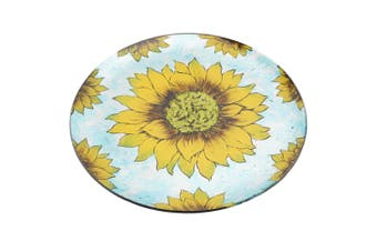 CGB Giftware Sunflower Circular Dish (Yellow/Blue) (Large)