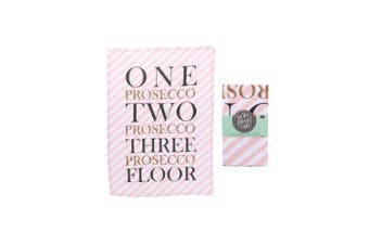 CGB Giftware Pop Fizz Clink Cotton Prosecco Tea Towel (Barbershop Pink) (One Size)