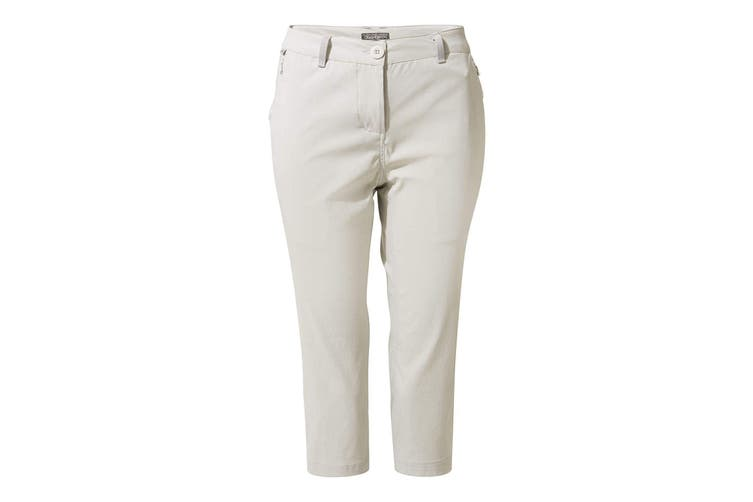 Craghoppers Womens/Ladies Kiwi Pro Crop Trousers (Dove Grey) (8 UK)