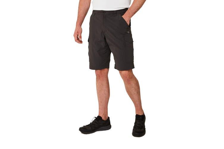 Craghoppers Mens NosiLife Cargo II Shorts (Black Pepper) (42)