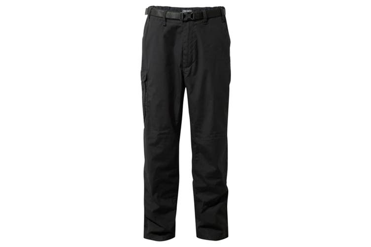 Craghoppers Outdoor Classic Mens Kiwi Stain Resistant Trousers (Black) (38S)