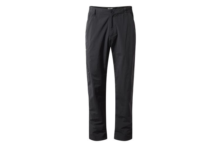 Craghoppers Mens NosiLife Trousers (Black Pepper) (30S)