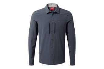 Craghoppers Mens NosiLife ProII Long Sleeved Shirt (Ombre Blue) (XXL)