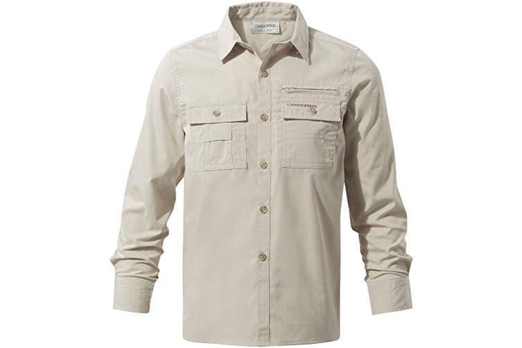 Craghoppers Childrens Boys Adventure Trek Long Sleeved Shirt (Oatmeal) (3-4 Years)