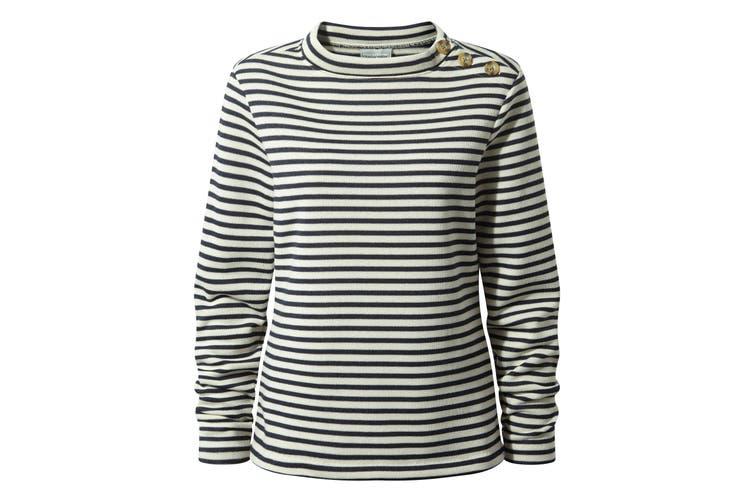 Craghoppers Womens/Ladies Balmoral Crew Neck Long Sleeve Fleece (Calico/Blue Navy) (14 UK)