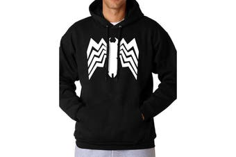 Spider-Man Comics Unisex Adults Venom Logo Hooded Sweatshirt (Black)
