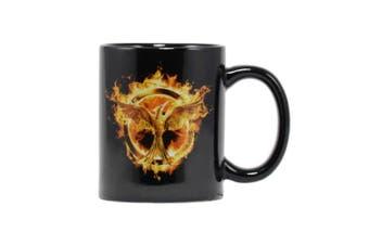 The Hunger Games Mockingjay Mug (Black) (One size)
