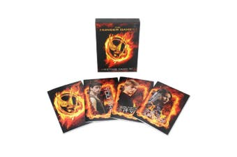 Hunger Games Girl On Fire Greetings Cards (Set of 20) (Black/Orange) (One size)