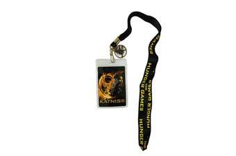Hunger Games Catching Fire District 12 Katniss Design Lanyard (Black/Yellow/Orange) (One size)