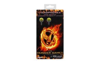 Hunger Games Girl On Fire Birds Design Earphones (Black/Orange/Yellow) (One Size)