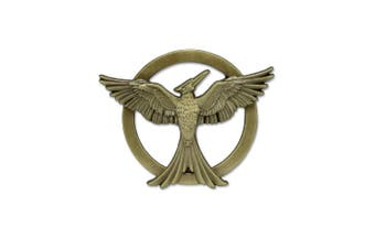 Hunger Games Mockingjay Prop Replica Pin Badge (Gold) (One size)