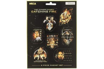 Hunger Games Catching Fire Magnets (Set Of 8) (Black/Orange) (One size)