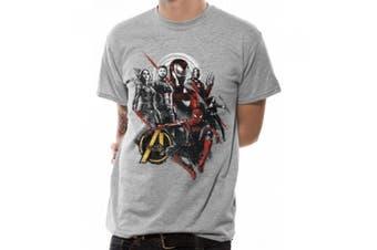 Avengers Unisex Adults Good Mix Design T-Shirt (Grey) (XL)