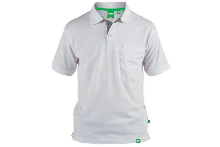 Duke Mens D555 Grant Kingsize Pique Polo Shirt (White) (5XL)