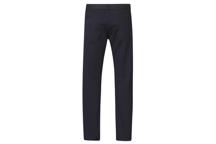 Duke London Mens Mario Bedford Cord Trousers With Belt (Black) (30S)