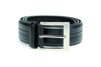 Duke Mens D555 Harley Kingsize Four Line Stitched Belt (Black) (56)