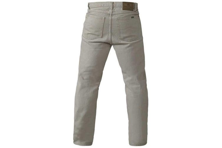 Duke Mens Rockford Comfort Fit Jeans (Stone) (38S)