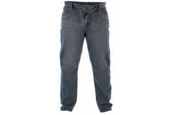 Duke Mens Rockford Kingsize Comfort Fit Jeans (Dirty Denim)