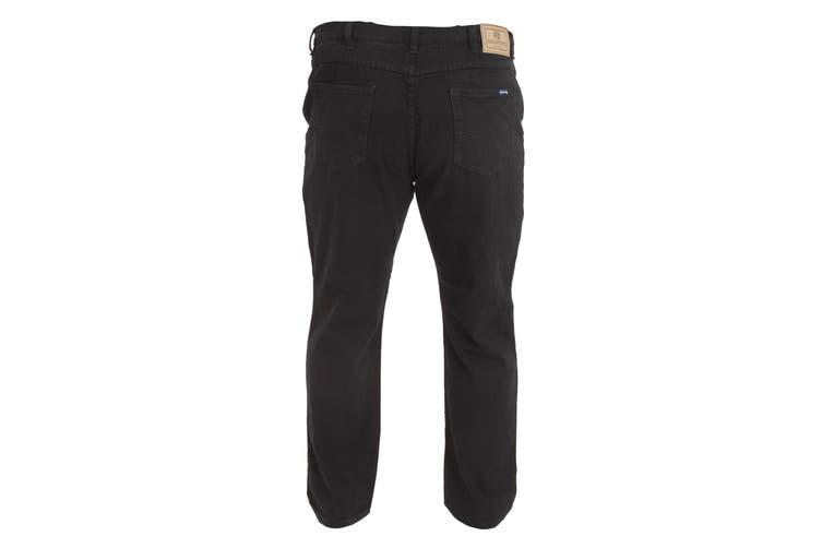 Duke Mens Rockford Kingsize Comfort Fit Jeans (Black) (60S)