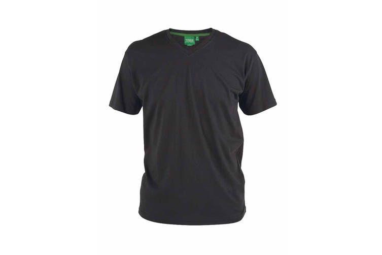 Duke Mens Signature-1 V-Neck T-Shirt (Black) (M)