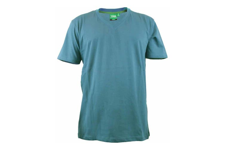 Duke Mens Signature-2 V-Neck T-Shirt (Teal) (L)