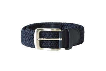 Duke Mens Dani Stretch Braided Belt (Navy) (L/XL)
