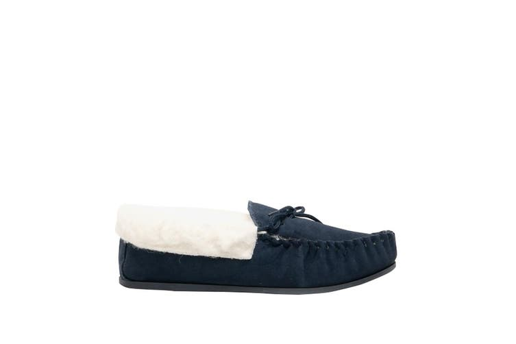 Mokkers Womens/Ladies Emily Moccasin Slippers (Navy) (7 UK)